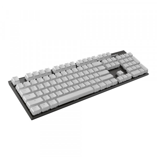 HyperX Double Shot PBT Keycaps Full 104 US White