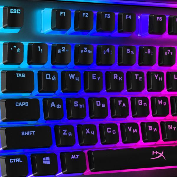 HyperX Pudding Keycaps Full Key Set RU Black
