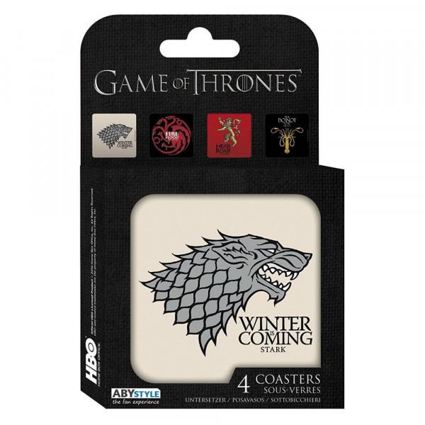 Подставки под бокалы (4 шт.) ABYstyle Game of Thrones: Houses