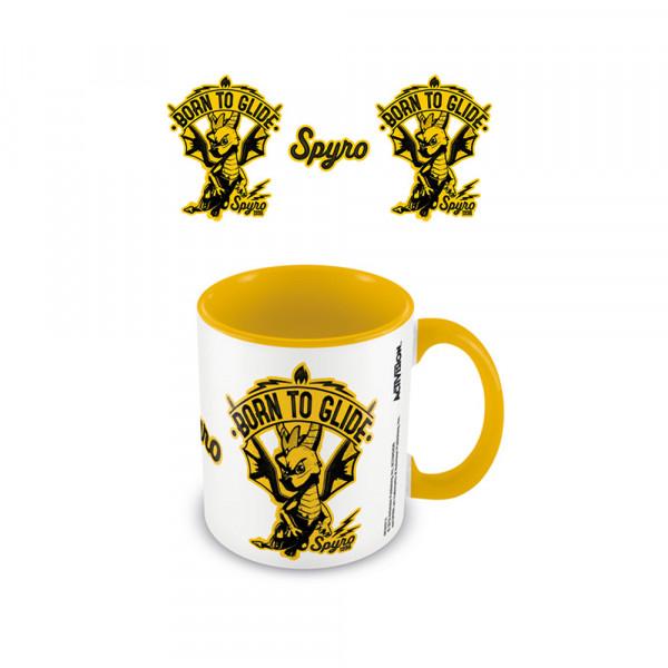Pyramid Coloured Inner Mug Spyro: Born To Glide Yellow