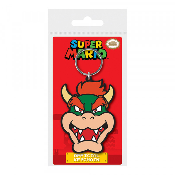 Pyramid Rubber Keychain Super Mario: Bowser