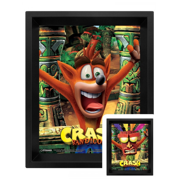Постер 3D Pyramid Crash Bandicoot (Mask Power Up)