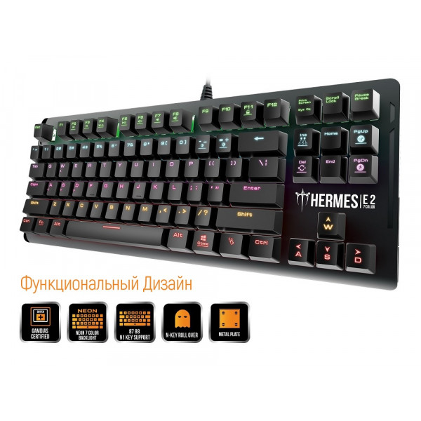 Gamdias Hermes E2 7 Color Black Switch