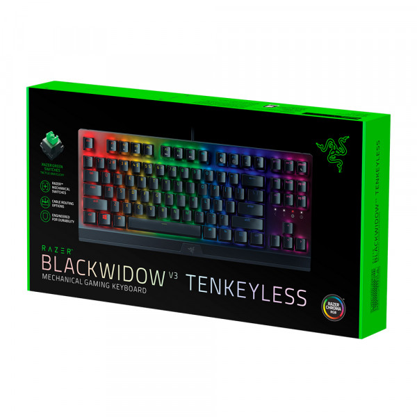 Razer BlackWidow V3 Tenkeyless Green Switch