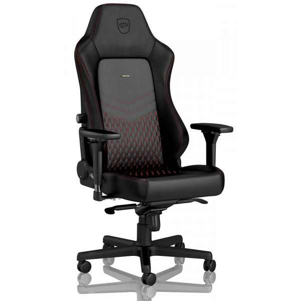 noblechairs HERO Real Leather Black/Red