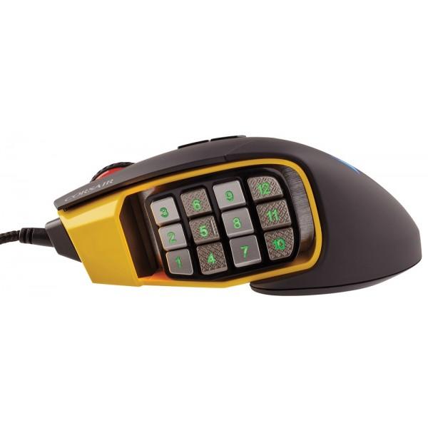 Corsair Scimitar PRO RGB Yellow-Black