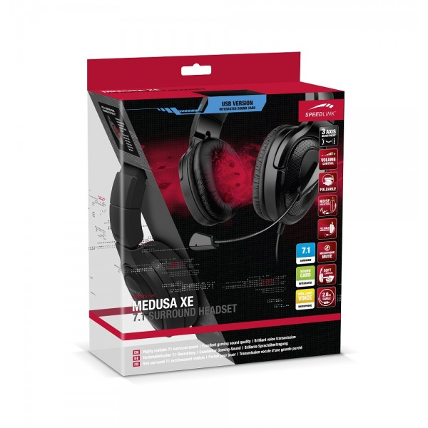 Speedlink Medusa XE Virtual 7.1 Surround SL-8798-BK
