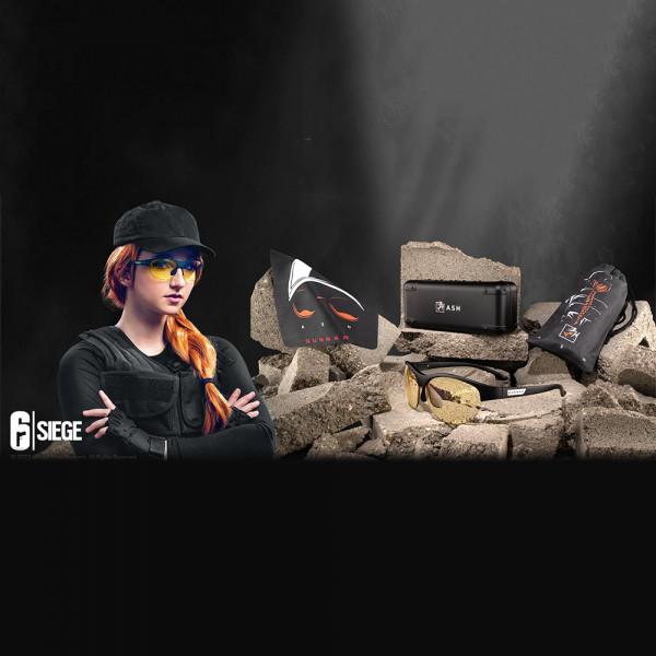Gunnar 6-Siege Ash Edition Amber-React Natural-Focus Onyx