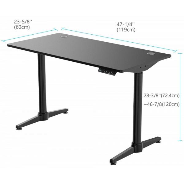 Eureka Ergonomic Height Adjustable Electric Stand Up Desk Black