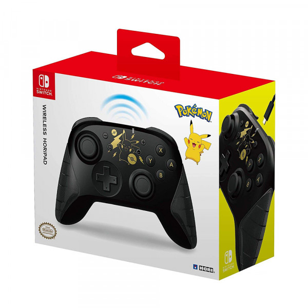 Hori Nintendo Switch Wireless HORIPAD Pokémon: Pikachu Black & Gold