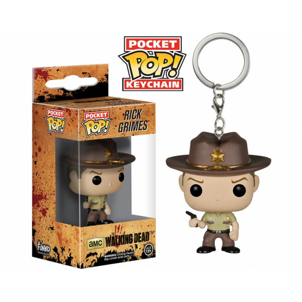 FUNKO POP Keychain The Walking Dead Rick Grimes