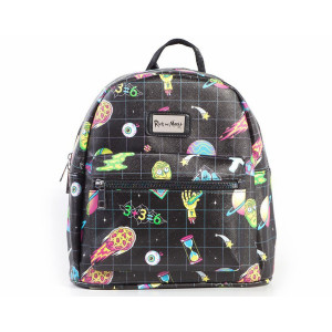 Difuzed Rick and Morty: All Over Sublimation Printed Ladies Backpack