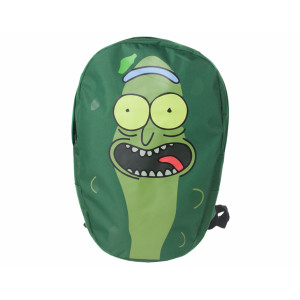 Difuzed Rick and Morty: Pickle Rick Shaped Backpack