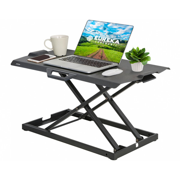 Eureka Ergonomic Height Adjustable 30 Inch Standing Desk Converter, Sit Stand Black