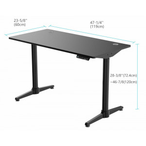 Eureka Ergonomic Height Adjustable Electric Stand Up Desk Black