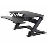 Eureka Ergonomic Height Adjustable Standing Desk Converter - 36 Inch, Black