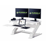 Eureka Ergonomic Height Adjustable Standing Desk Converter - 36 Inch, White