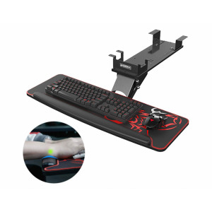 Eureka Ergonomic Under Desk Keyboard and Mouse Tray, Black