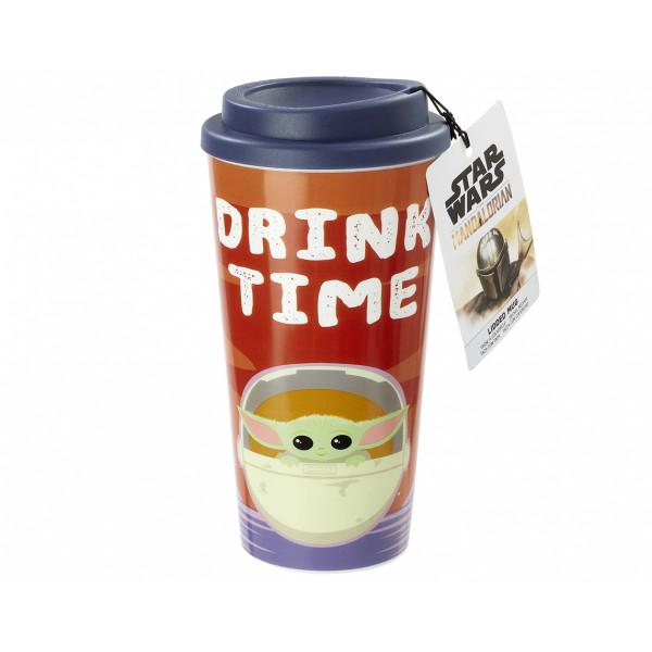 Funko Plastic Lidded Mug Star Wars The Mandalorian: Drink Time