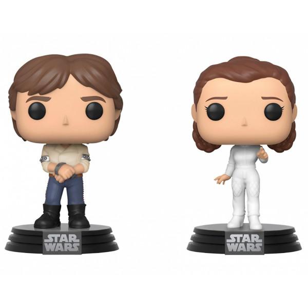 Funko POP! 2 pack Star Wars: Han Solo and Princess Leia