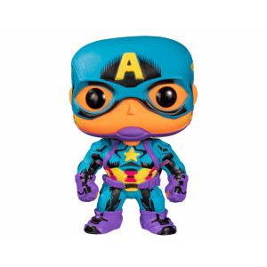 Funko POP! Black Lights Marvel: Captain America