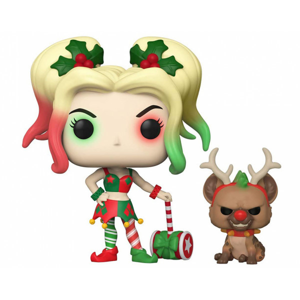 Funko POP! DC Super Heroes: Holiday Harley Quinn with Helper
