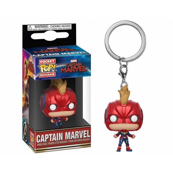 Funko POP! Keychain Captain Marvel: Captain Marvel (w/Helmet)