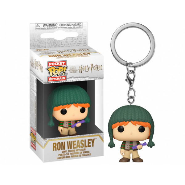 Funko POP! Keychain Harry Potter: Holiday Ron Weasley