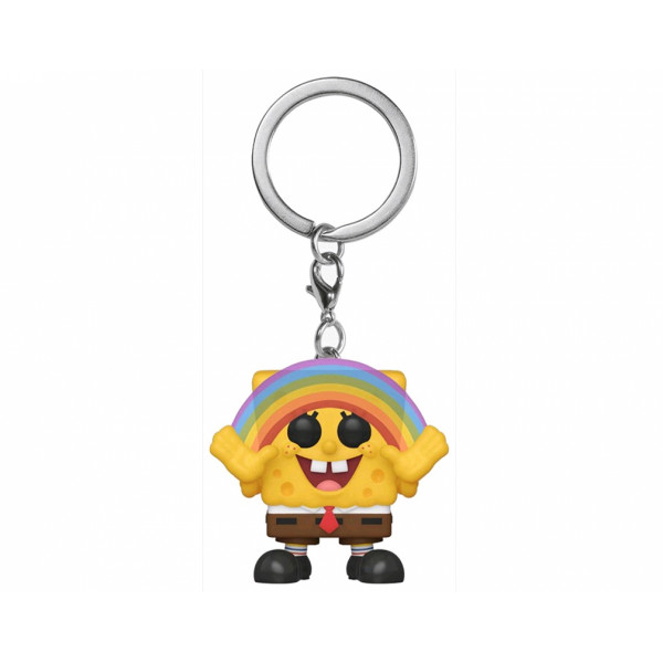 Funko POP! Keychain Spongebob Squarepants: Spongebob with Rainbow