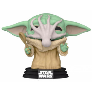 Funko POP! Star Wars The Mandalorian: Grogu with Chowder Squid
