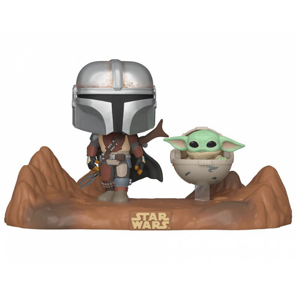 Funko POP! TV Moments Star Wars The Mandalorian: The Mandalorian with The Child