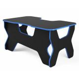 """Компьютерный стол """"Геймер"""", черный/синий"""