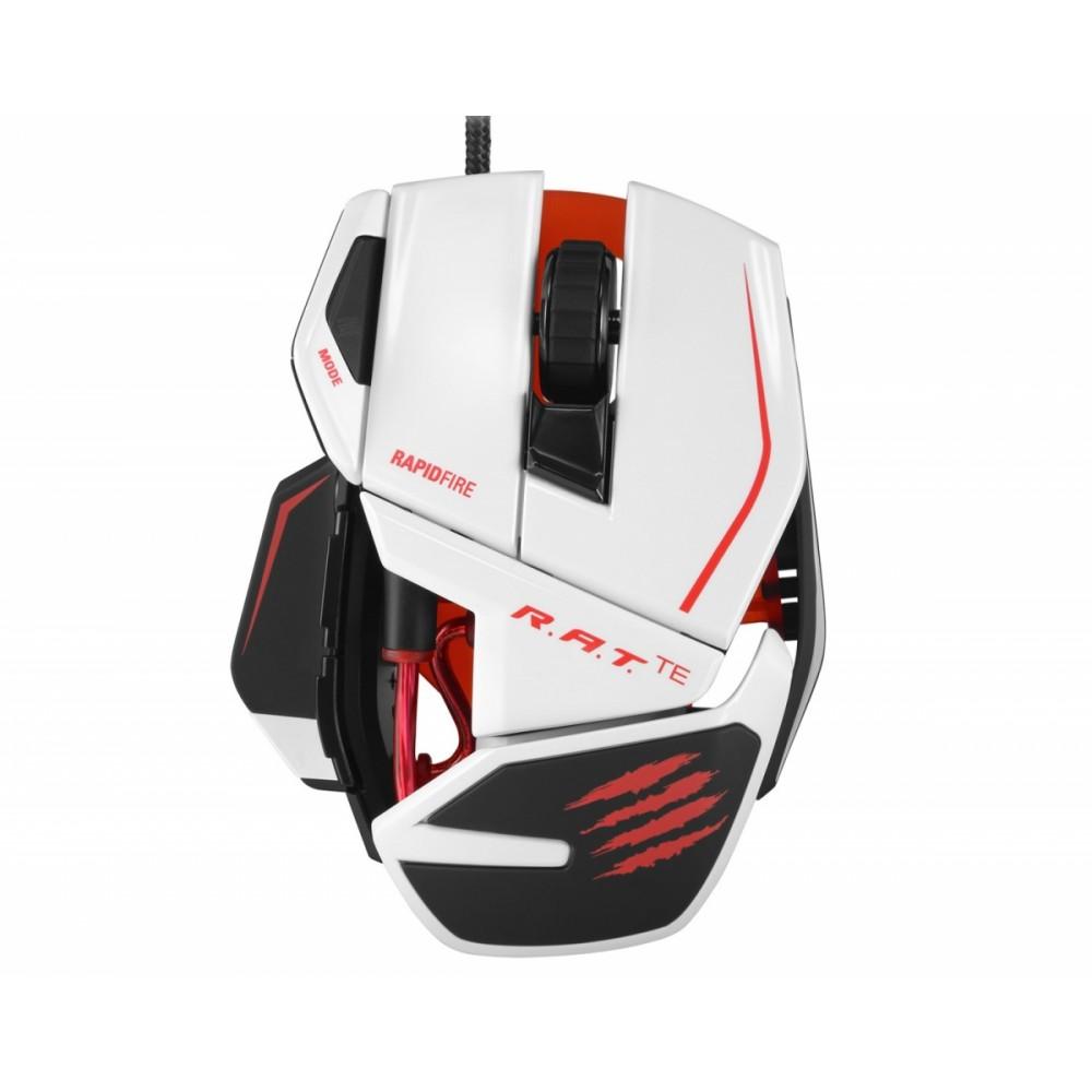 Mad Catz Rat Te Gaming Mouse White Usb Madcatz Strikete Tournament Edition Keyboard