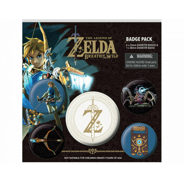 Набор значков Pyramid The Legend of Zelda: Breath Of The Wild (Z Emblem)