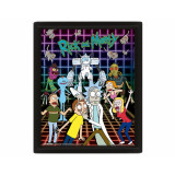 Pyramid 3D Lenticular Poster Rick and Morty: (Characters Grid)