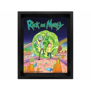 Pyramid 3D Lenticular Poster Rick and Morty: (Portal)