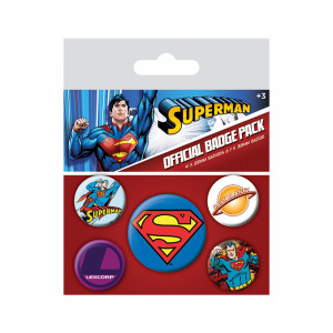 Pyramid Badge Pack DC: Superman