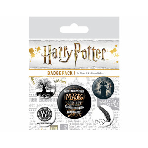Pyramid Badge Pack Harry Potter: Symbols