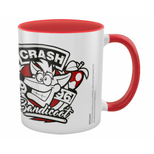 Pyramid Coloured Inner Mug Crash Bandicoot: 1996 Emblem Red