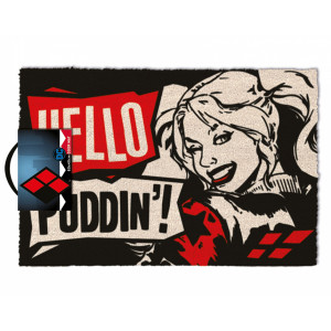 Pyramid Doormat Harley Quinn: Hello Puddin'