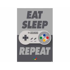 Pyramid Maxi Poster: Nintendo (Eat Sleep SNES Repeat)