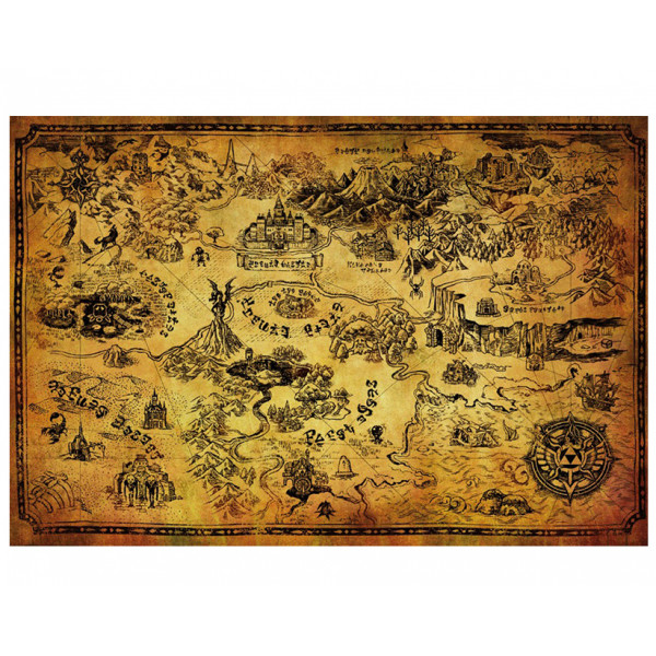 Pyramid Maxi Poster: The Legend Of Zelda (Hyrule Map)