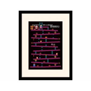 Pyramid Mounted & Framed Prints: Donkey Kong (NES)