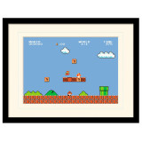 Pyramid Mounted & Framed Prints: Super Mario Bros. (1-1)