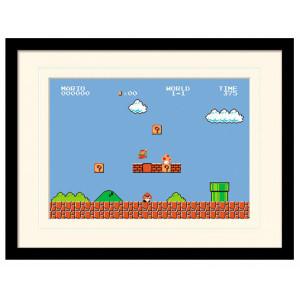 Pyramid Mounted & Framed Prints: Super Mario Bros. (1-1)
