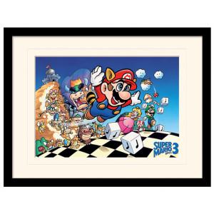 Pyramid Mounted & Framed Prints: Super Mario Bros. 3 (Art)