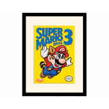 Pyramid Mounted & Framed Prints: Super Mario Bros. 3 (NES Cover)