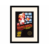 Pyramid Mounted & Framed Prints: Super Mario Bros. (NES Cover)