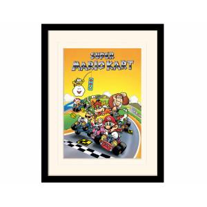 Pyramid Mounted & Framed Prints: Super Mario Kart (Retro)