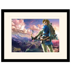 Pyramid Mounted & Framed Prints: The Legend of Zelda: Breath of the Wild (Hyrule Scene Landscape)